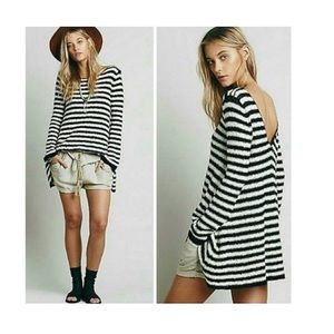 Counting Stripes Nubby Swing Dress Tunic
